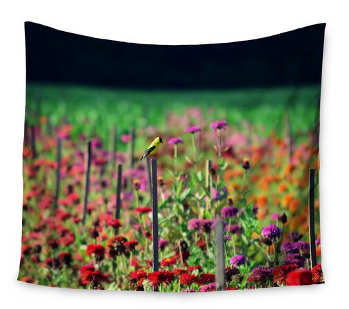Live in the Sunshine by Robin Dickinson Wall Tapestry by East Urban Home