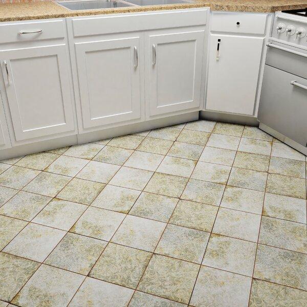 Royalty 17.63 x 17.63 Ceramic Field Tile in Beige/Blue/Patina by EliteTile