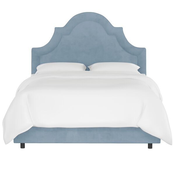 Priscilla Arched Border Upholstered Standard Bed by House of Hampton