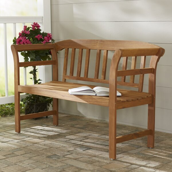 Archdale 2 Seat Acacia Wooden Garden Bench by Charlton Home