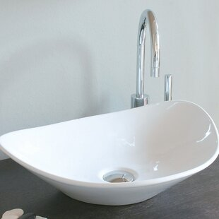 Compare Ceramica Ceramic Oval Vessel Bathroom Sink ByWS Bath Collections