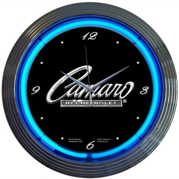 Cars and Motorcycles 15 Camaro Wall Clock by Neonetics