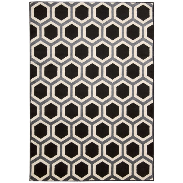 Severin Black/Ivory Area Rug by Wrought Studio
