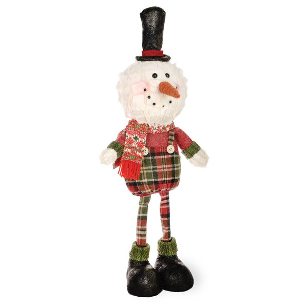 Plaid Pals Standing Snowman Figurine by The Holiday Aisle