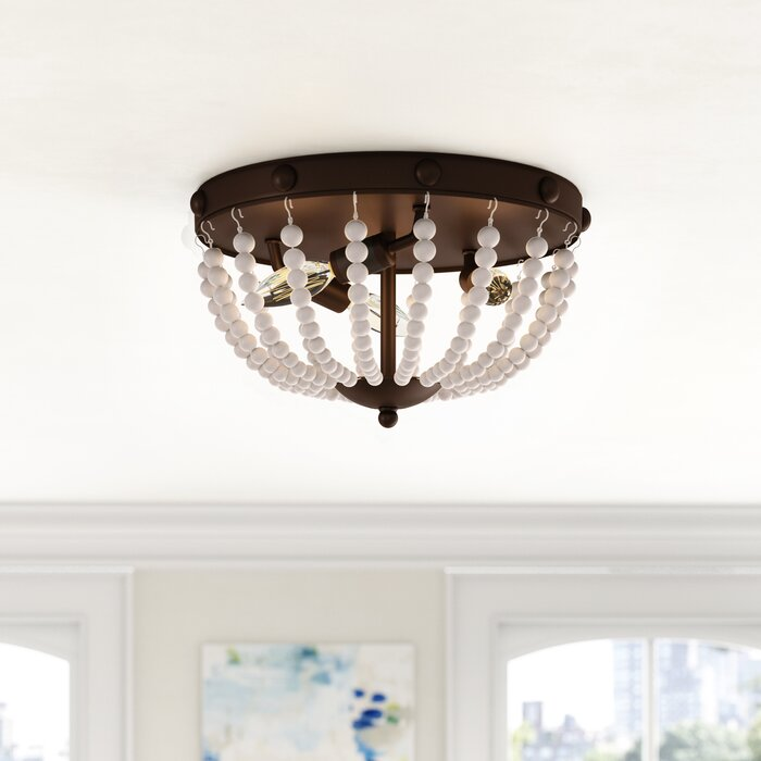 Baynes Beaded 3 Light Flush Mount