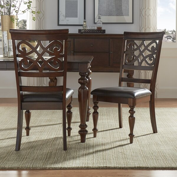 Leopoldo Armless Upholstered Dining Chair (Set of 2) by Fleur De Lis Living