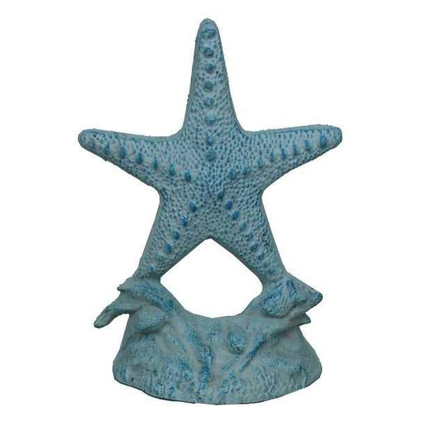 Starfish Cast Iron Floor Stop by Handcrafted Nautical Decor