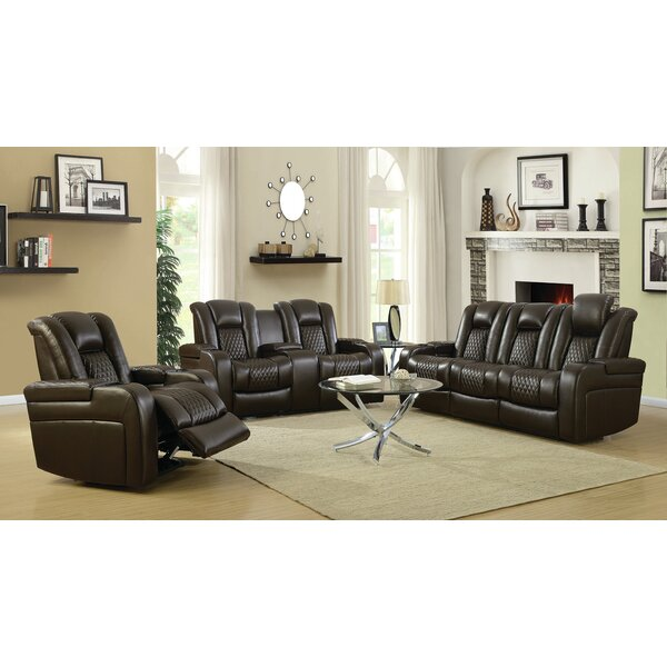 Tregre Power Reclining  3 Piece Living Room by Red Barrel Studio