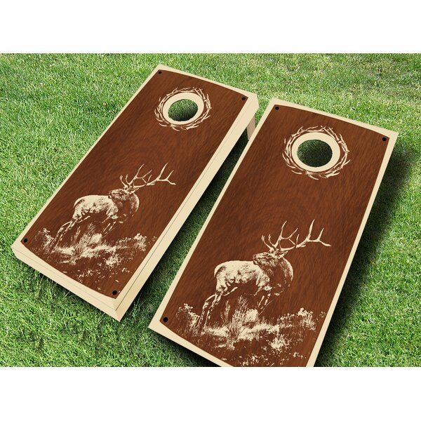 Retro Stained Tule Cornhole Set by AJJ Cornhole