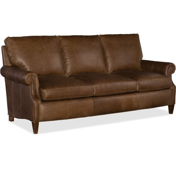 Rodney Leather Sofa by Bradington-Young
