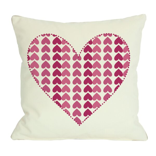 Repeating Heart Throw Pillow by One Bella Casa