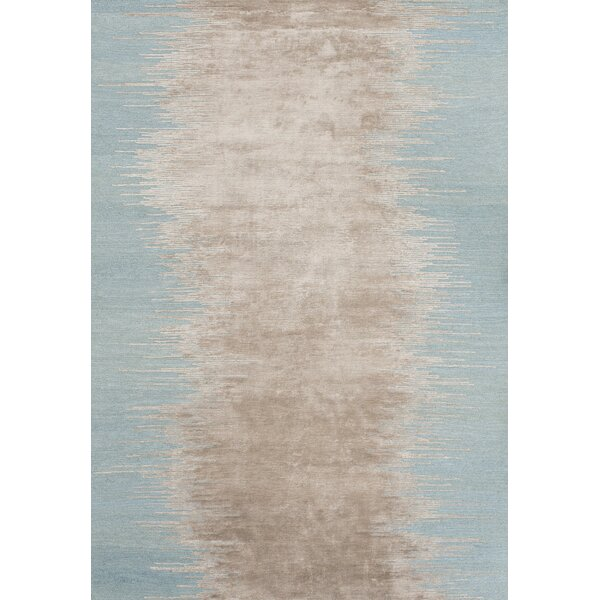 Noam Hand-Loomed Aqua Area Rug By Linie Design.