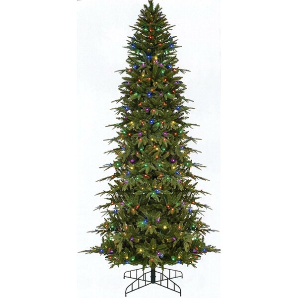 Pre-Lit Slim Palisade Green Pine Artificial Christmas Tree With 500 Multi-Colored Lights By The Holiday Aisle by The Holiday Aisle