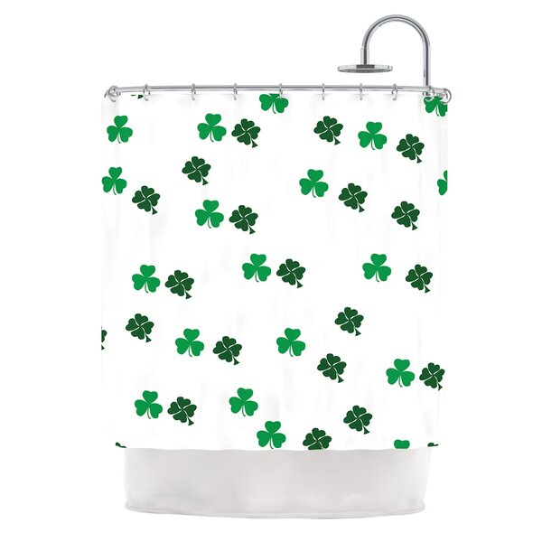 Shamrockin St. Patrick Shower Curtain by East Urban Home