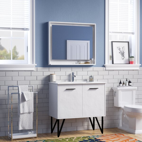 Almaraz 36 Single Bathroom Vanity Set with Mirror by Langley Street