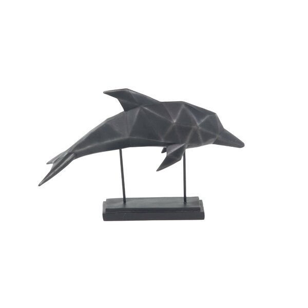 Urcino Coastal Faceted Dolphin Figurine by Highland Dunes