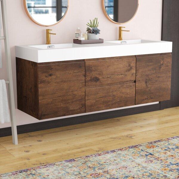 Sinope 59 Wall-Mounted Double Bathroom Vanity Set by Orren Ellis