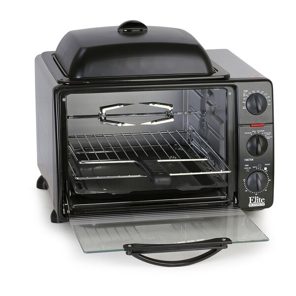 0.8 Cu. Ft. Cuisine Toaster Oven with Rotisserie and Grill/Griddle Top by Elite by Maxi-Matic