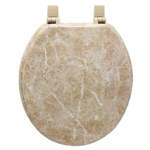 wooden toilet seat hinges. Marbleized Molded Wood Toilet Seat in Tan Seats You ll Love  Wayfair