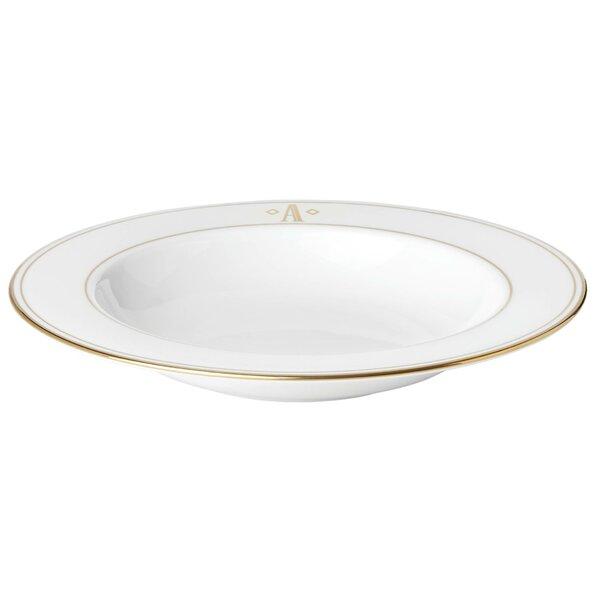 Federal Gold Monogram Block Soup Bowl by Lenox