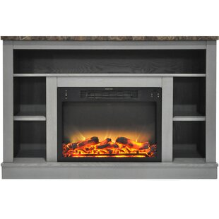 Compare prices Eudora TV Stand for TVs up to 50 with Fireplace ByCharlton Home