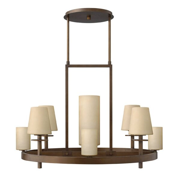 Machelle 9 - Light Shaded Wagon Wheel Chandelier by Darby Home Co Darby Home Co