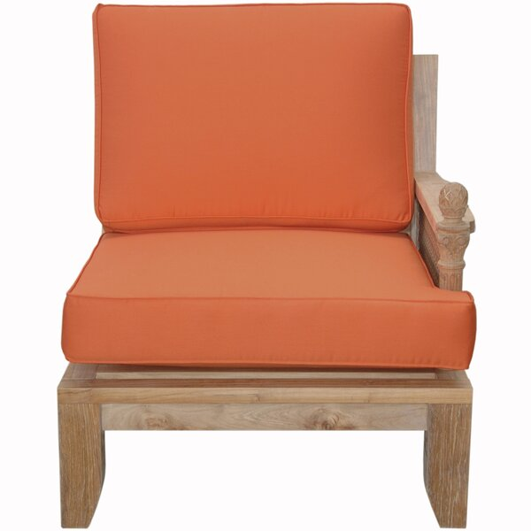 Luxe Teak Left Arm Patio Chair with Sunbrella Cushions by Anderson Teak