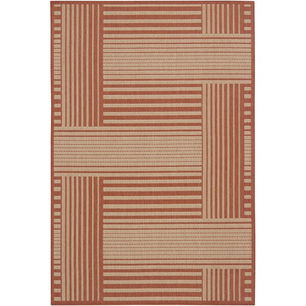 Brynie Red Geometric Area Rug by Latitude Run