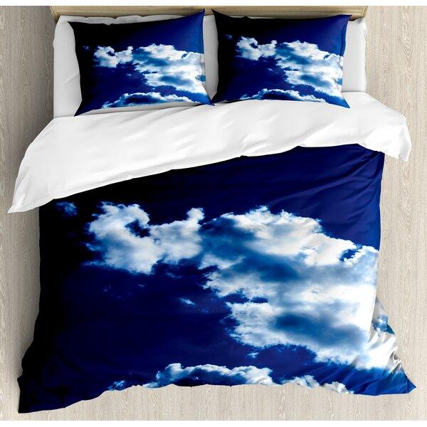Sky and Dramatic Clouds Natural Phenomena Sunset Sunrise Theme Majestic Duvet Set by Ambesonne
