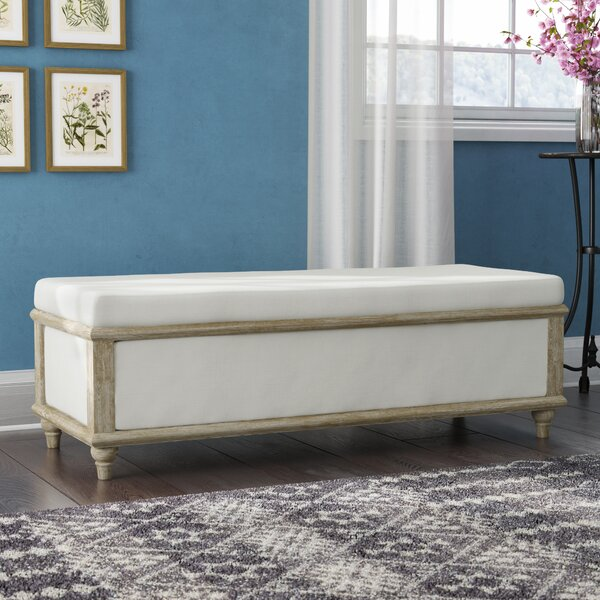 Serene Upholstered Storage Bench by Laurel Foundry Modern Farmhouse