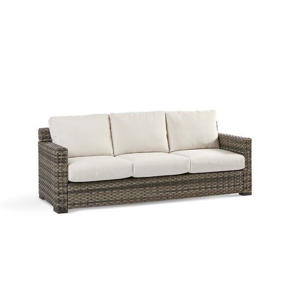 Varney Patio Sofa with Sunbrella Cushion by Rosecliff Heights