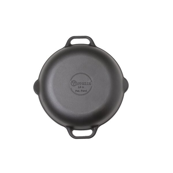 Cast Iron 13 Round Frying Pan by Victoria