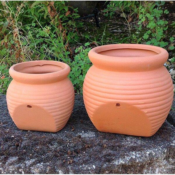 Proulx 2-Piece Round Terracotta Pot Planter Set by August Grove