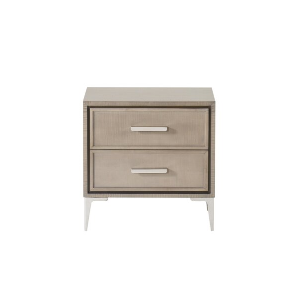 Mitton 2 Drawer Nightstand by George Oliver