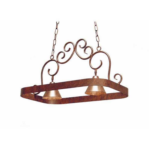 Elana 2 Light Hanging Pot Rack by 2nd Ave Design