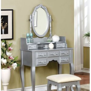 Lisa Vanity Set with Mirror by A&J Homes Studio