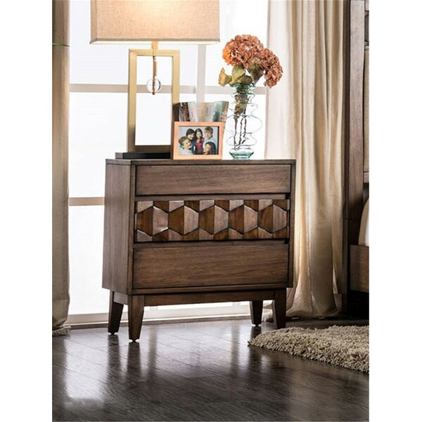 Amirah 3 Drawer Nightstand by Bungalow Rose