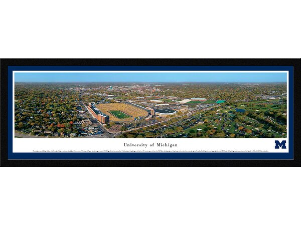 NCAA Michigan, University of - Aerial by James Blakeway Framed Photographic Print by Blakeway Worldwide Panoramas, Inc