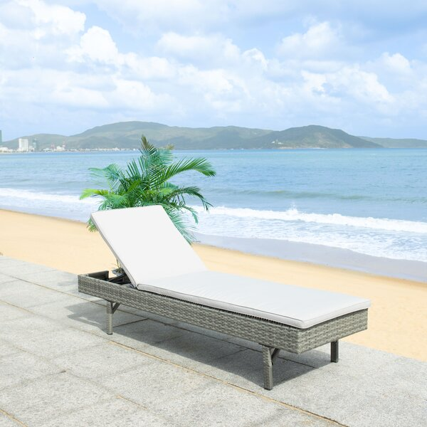 Esmai Reclining Chaise Lounge with Cushion