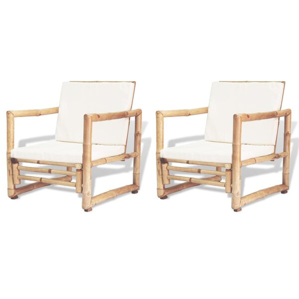 Gilmer Garden Patio Chair with Cushions (Set of 2) by Bay Isle Home Bay Isle Home