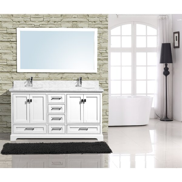 Frieda 60 Double Bathroom Vanity with Mirror by Gracie Oaks