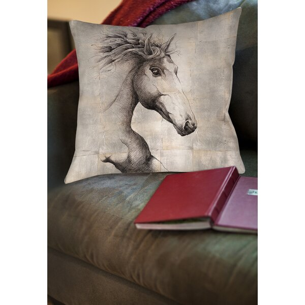 Run with the Wind Printed Throw Pillow by Manual Woodworkers & Weavers