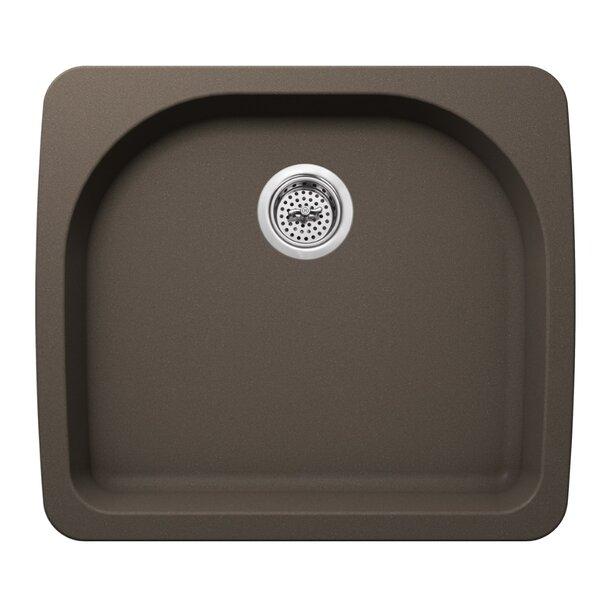 25 L x 22 W Quartz Single Bowl Kitchen Sink by Soleil