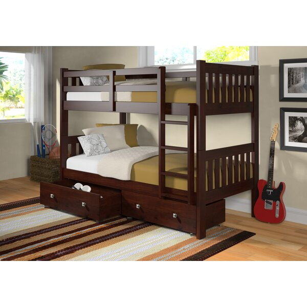Doe Twin Over Twin Bunk Bed with Drawers by Harriet Bee