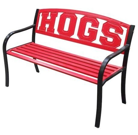 NCAA Collegiate Metal Garden Bench by Leigh Country
