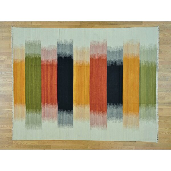 One-Of-A-Kind Bessey Reversible Handmade Kilim Wool Area Rug By Isabelline.