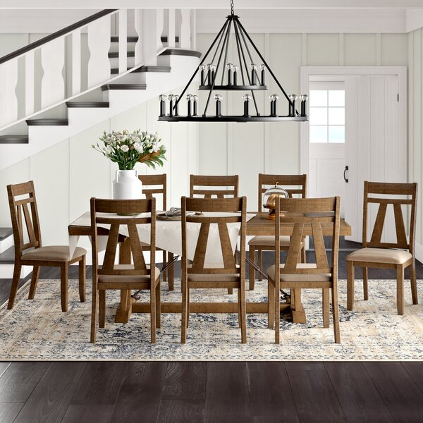 Tracey 9 Piece Dining Set by Laurel Foundry Modern Farmhouse