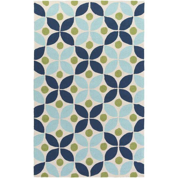 Miranda Navy/Aqua Indoor/Outdoor Area Rug by clairebella