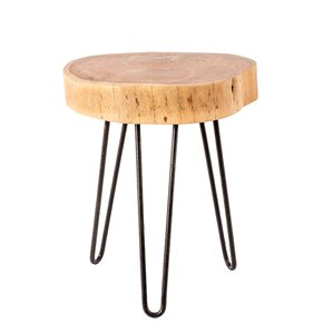 Walker Natural Trunk End Table by Union Rustic