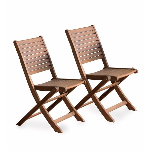 Eucalyptus Bistro Folding Patio Dining Chair by Plow & Hearth